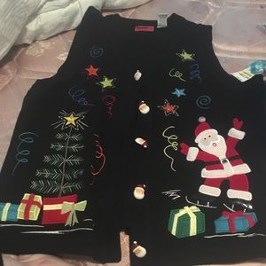 Christmas Santa ugly sweater vest